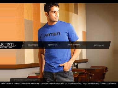 Official website for Artisti Collection