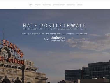 Nate Post Homes Website Design