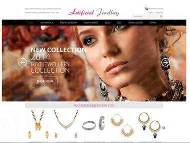 Artificial jewellery eCommerce
