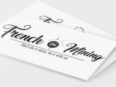 Logo design presented on Business card mockup