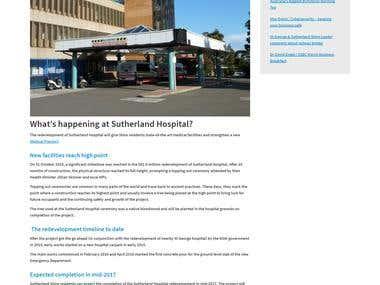 Sutherland hospital content