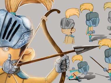 Vaultjump Game character design
