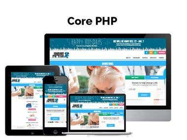 Core PHP Website Development
