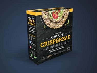 LowCarb Crispbread Packaging Box