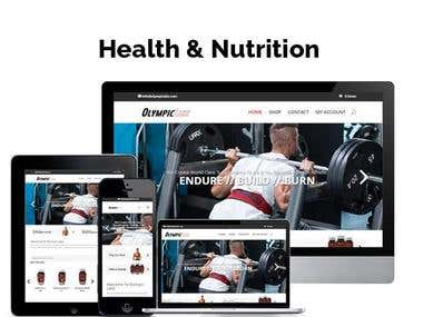 Health and Nutrition Website Development