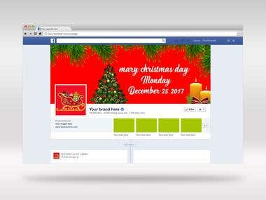 facebook cover/ christmas facebook -cover