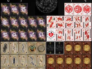 Gods, Symbols & Zodiacs Card Project.