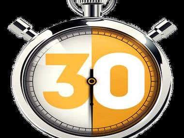 30 Minutes Challenge
