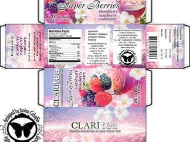 ClariTea Product Packaging Design