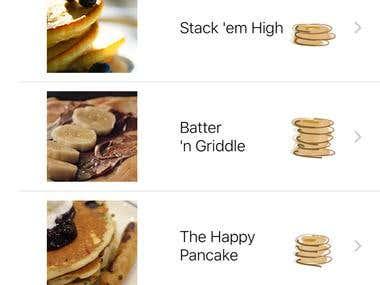 Food iOS delivery App