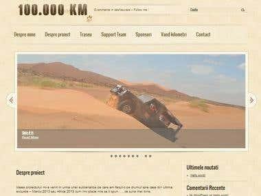 100.000 km - website design