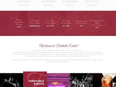 Events Company Website