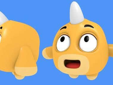 Diseño y modelado personaje 3D