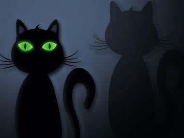 black cat character