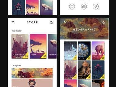 UI Design for AR books app