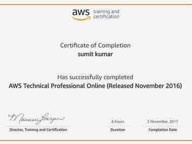 AWS Technical Professional Online (Released November 2016)