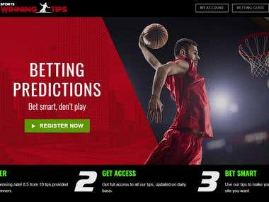 Betting Tips Website