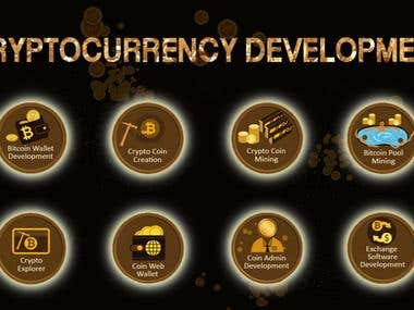BitCoin, ICO, LTC, ETH, Cryptocurrency Development