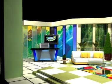 3D Set - Bakhaber Sawera (Morning Talk Show)