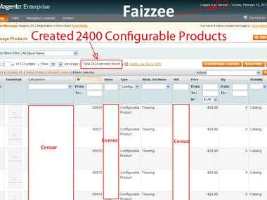 2400 Configurable Products - Created and managing