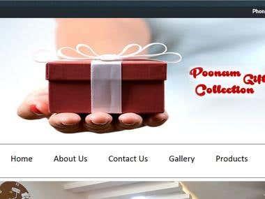 Poonam Gift Gallery - Website
