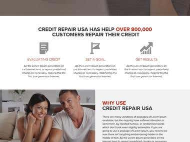 Credit Repair Services Website