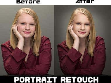 Portrait Photo retouch..