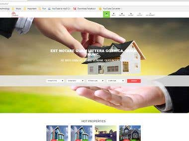 Real Estate website in custom PHP