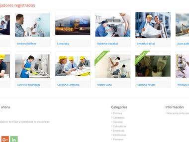 Página web de empleos