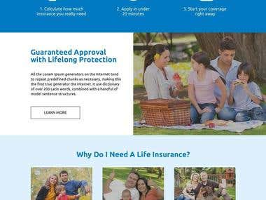 Life Insurance Website Concept