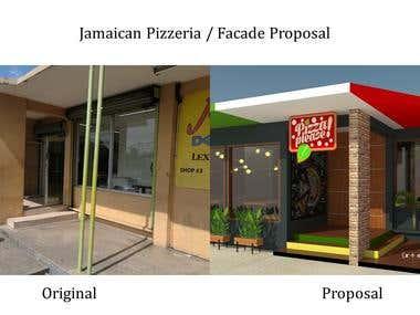 Facade Design / Jamaican Pizzeria / SKP