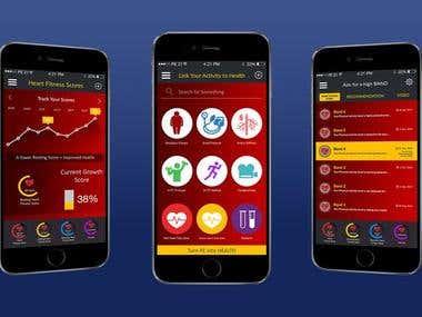 Heart Fitness app