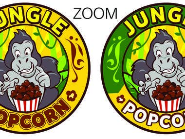 JUNGLE POPCORN LOGO Design