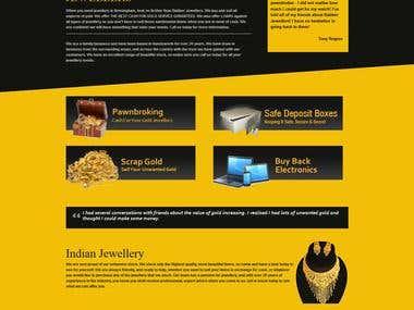 Jewellery website built with WordPress