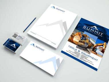 Complete Corporate Branding for Summit Equipment