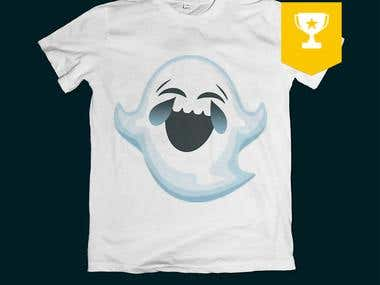 Laughing Ghost T-Shirt Design.