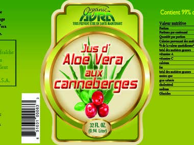 AloeVera Juice Label