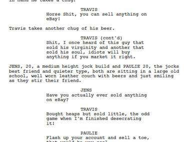 The bid - Short Screenplay