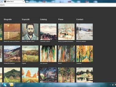 Stefan Boca - website design