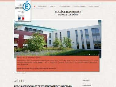 Web site for French School