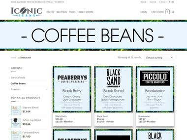 Website design for Coffee roaster service