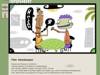HTML5 interactive presentation