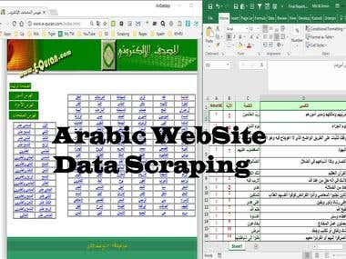 Data Collection from Arabic Website