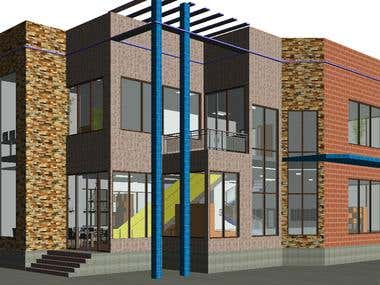 3D modeling of commercial building by using Autodesk Revit