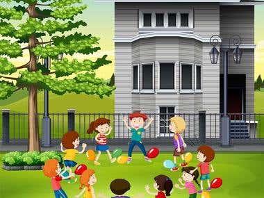 children book illustration design