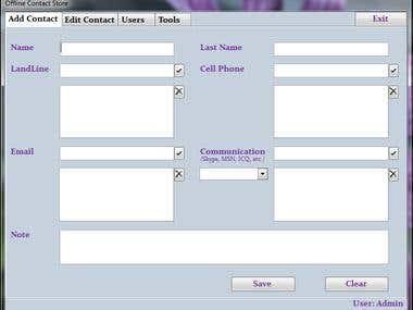 Ofline Contact Store