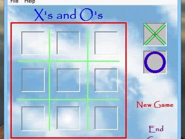 X's & O's Game (Crosses & Circles)