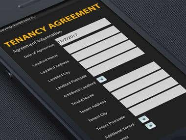 Tenancy Agreement Android App