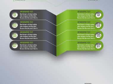 Creative info graphic design