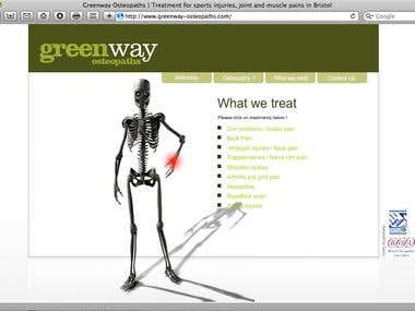 Greenway Osteopaths Website